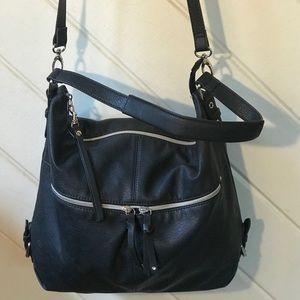 RELIC Black & Silver Crossbody Bag